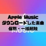 Apple Musicダウンロードした楽曲の削除
